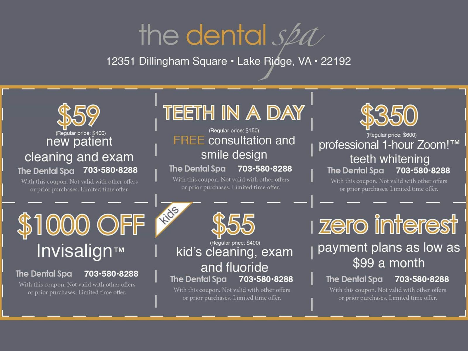 The Dental Spa Cosmetic Dental Specials | Woodbridge, VA